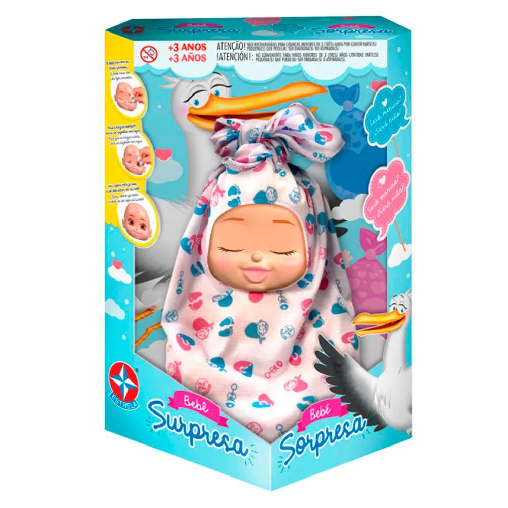 Boneca Bebê Supresa Estrela 3+
