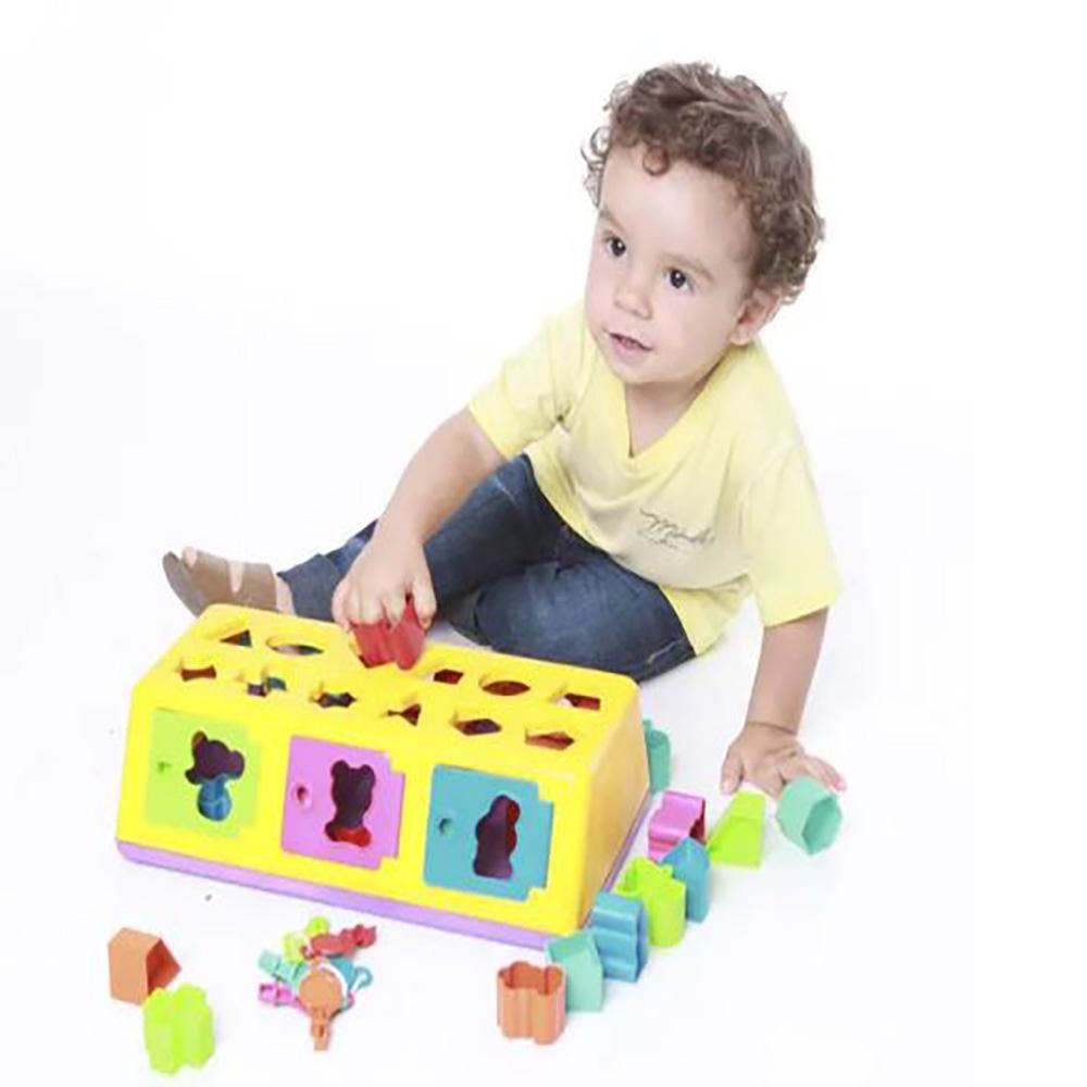 Brinquedo Estrela Caixa Encaixa 12m+