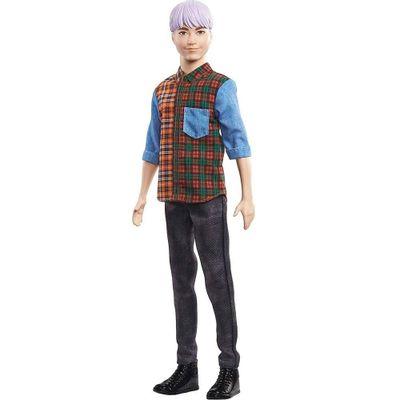 boneco-ken-fashionistas-camisa-xadrez-e-calca-preta-mattel_Frente