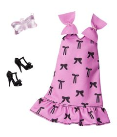 acessorios-de-boneca-barbie-fashionistas-vestido-rosa-com-lacos-mattel_Frente