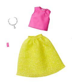 acessorios-de-boneca-barbie-fashionistas-blusa-rosa-e-saia-amarela-mattel_Frente