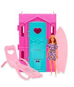 Playset-e-Boneca-Barbie---Surf-Studio-da-Barbie-com-Vestido-Lilas---Fun-0
