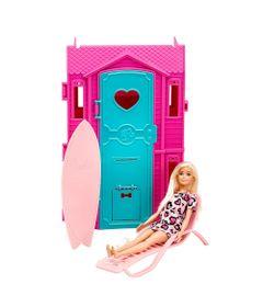 Playset-e-Boneca-Barbie---Surf-Studio-da-Barbie-com-Vestido-Rosa-Claro---Fun-0