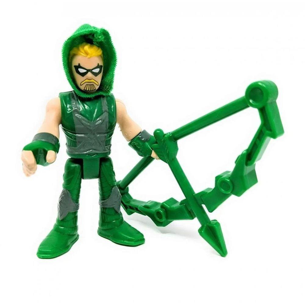 Mini Figura de Ação - 7 Cm - DC Comics - Imaginext - Arqueiro Verde com Acessórios - Mattel