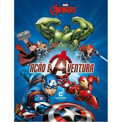 Livro-Infantil---Disney---Marvel---Vingadores-Acao-e-Aventura---Culturama