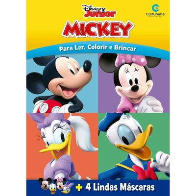 Livro-Infantil---Disney---Mickey-Mouse---Mascaras-Divertidas---Culturama