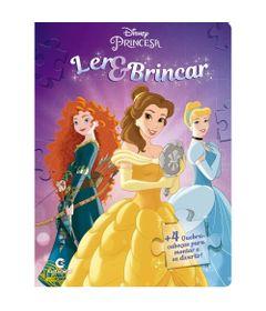 Livro-Infantil---Ler-e-Brincar-com-Quebra-Cabeca---Disney---Princesas---Culturama