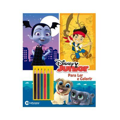 Livro-para-Colorir-e-Ler---Disney---Junior-com-Lapis---Culturama