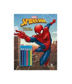 Livro-para-Colorir-e-Ler---Disney---Marvel---Spider-Man-com-Lapis---Culturama