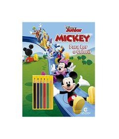 Livro-para-Colorir-e-Ler---Disney---Mickey-Mouse-com-Lapis---Culturama