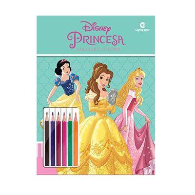 Livro-para-Colorir-e-Ler---Disney---Princesas-com-Lapis---Culturama