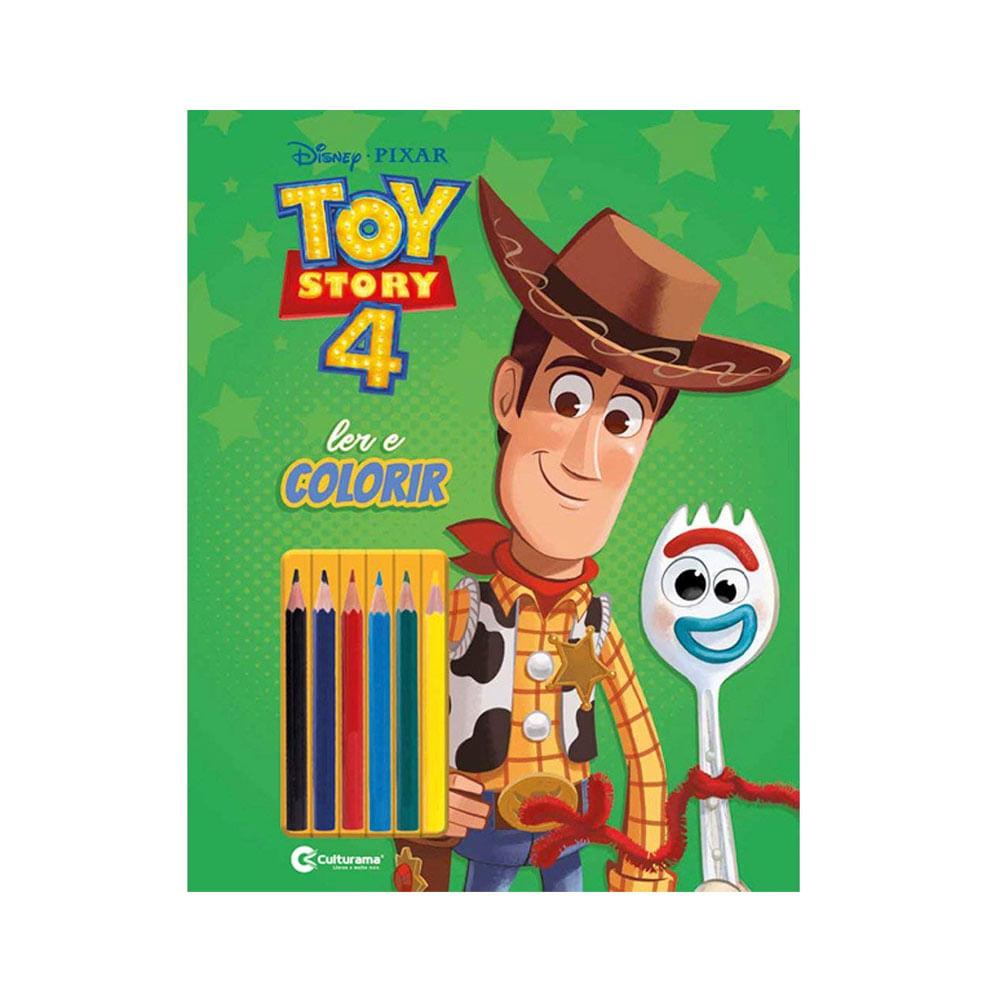 Livro para Colorir e Ler - Disney - Toy Story 4 com Lápis - Culturama