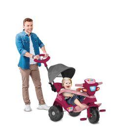 Triciclo-de-Passeio-e-Pedal---Velobaby---Reclinavel-Com-Capota---Pink---Bandeirante-1