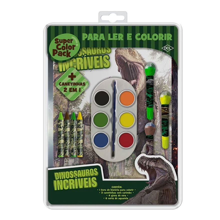 Livro-para-Colorir---Super-Color-Pack---Dinossauros-Incriveis---DCL-Editora
