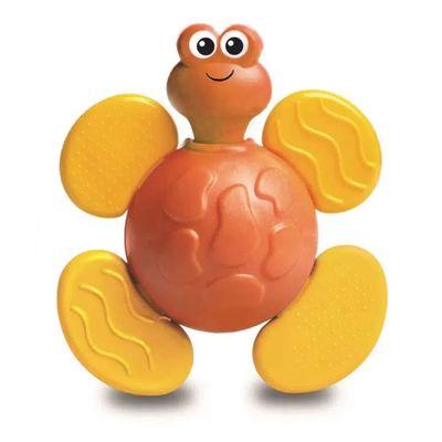 chocalho-e-mordedor-bichitos-laranja-e-amarelo-elka_Frente