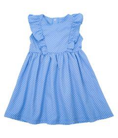 Vestido-Baby---Chambray-com-Babado---Azul---Algodao-e-Poliester---Minimi---P
