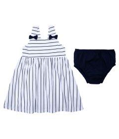 Vestido-Baby-com-Alcas---Listrado---Branco---Algodao-e-Elastano---Minimi---P