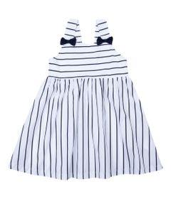 Vestido-Infantil-com-Alcas---Listrado---Branco---Algodao-e-Elastano---Minimi---1