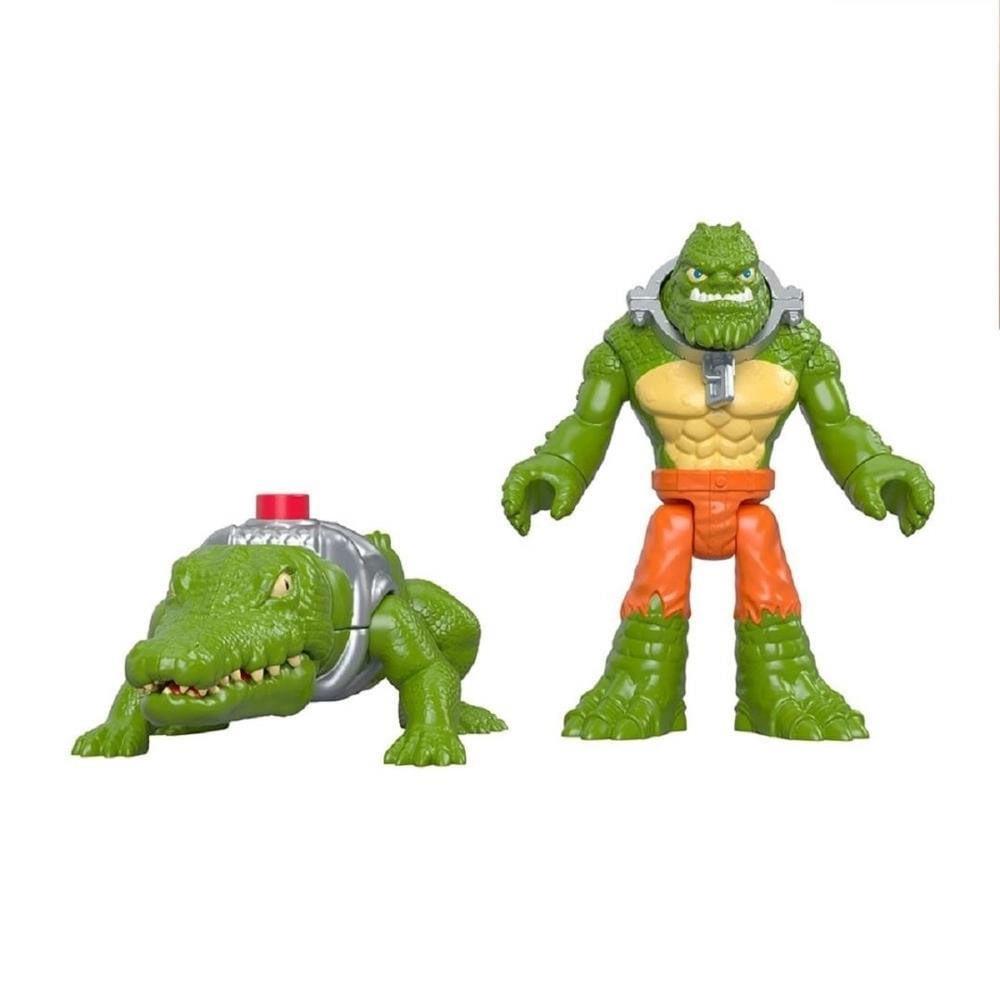Mini Bonecos - 7 Cm - K Croc e Crocodilo - Imaginext DC Super Amigos - Fisher-Price