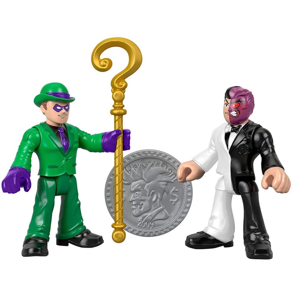 Mini Bonecos - 7 Cm - Charada e Duas Caras - Imaginext DC Super Amigos - Fisher-Price