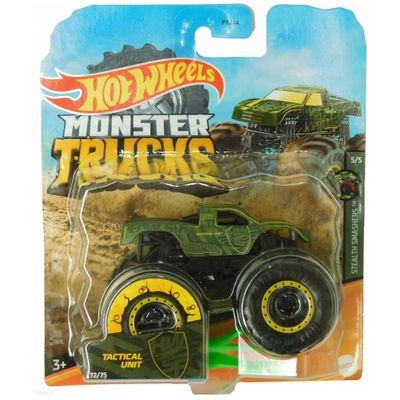 veiculo-die-cast-hot-wheels-1-64-monster-trucks-tatical-unit-mattel_Frente