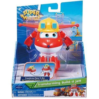 Oferta Figura Transformável - 12 Cm - Super Wings - Change Up - Jett Construtor - Fun por R$ 79.99