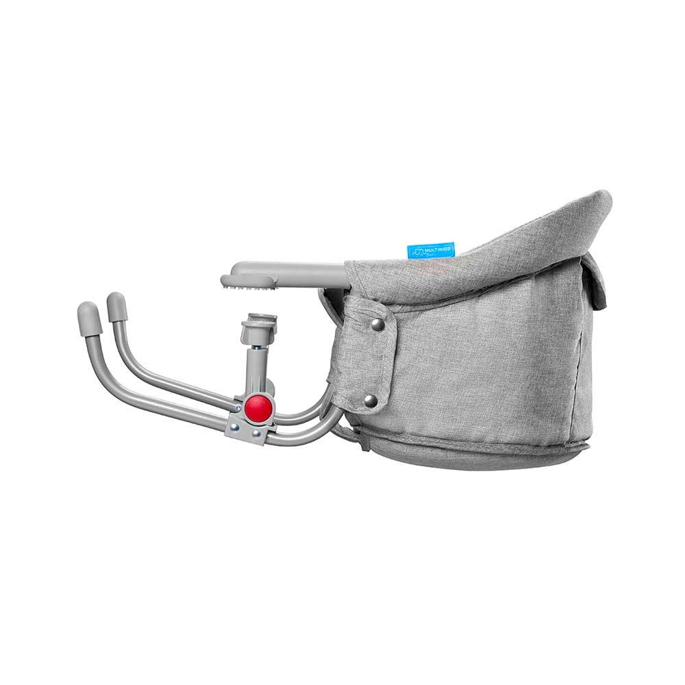 Cadeira De Alimentação - Click N Clip - Com Encaixe para Mesa - Cinza - Multikids Baby
