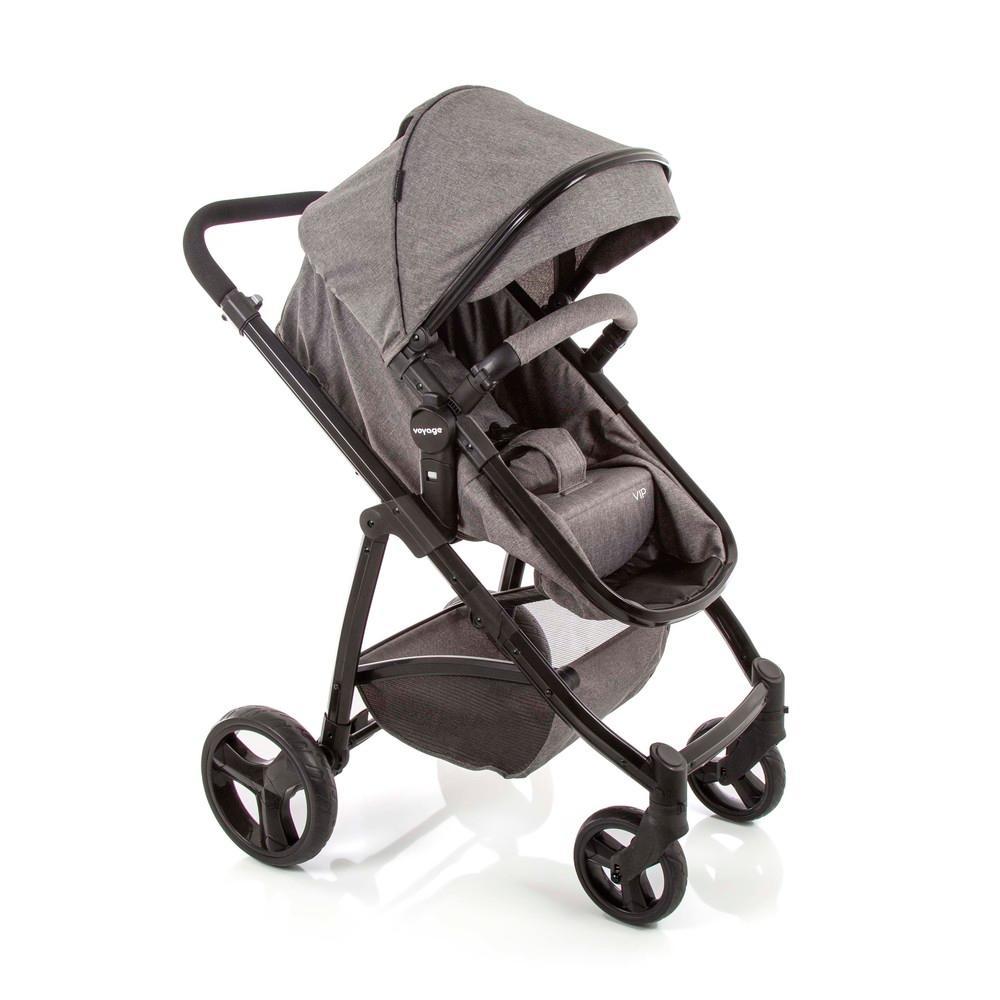 Carrinho de Bebê Vip Voyage - Cinza Mescla