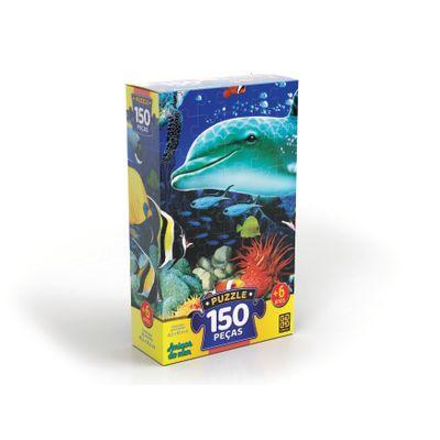 Quebra-Cabeca---Amigos-do-Mar---150-Pecas---Grow-0