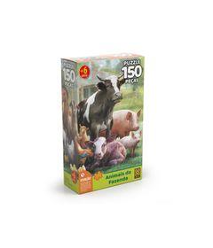 Quebra-Cabeca---Animai-da-Fazenda---150-Pecas---Grow-0