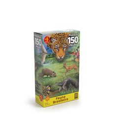Quebra-Cabeca---Fauna-Brasileira---150-Pecas---Grow-0