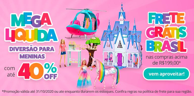 01 - Slimbanner - Mobile - Mega Liquida - DIVERSÃO PARA MENINAS COM ATÉ 40% OFF - act