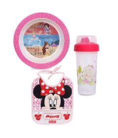 Kit-com-Prato-Bowl-Copo-com-Tampa---340-ml-e-Babador-com-Porta-Migalhas---Disney---Baby-Go