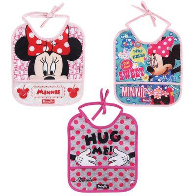 Kit-de-Babadores-com-Porta-Migalhas---Disney---Minnie---Baby-Go