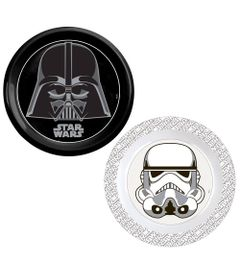 Kit-de-Pratos-Decorados---Disnye---Star-Wars---Stormtrooper-e-Darth-Vader---Baby-Go