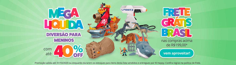 Fullbanner - Desktop - Mega Liquida - DIVERSÃO PARA MENINOS COM ATÉ 40% OFF - act