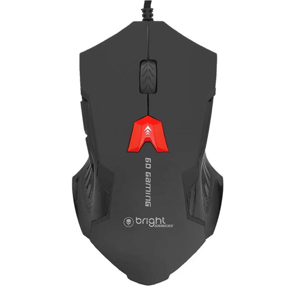 Mouse Gamer USB Preto 6 botões 462 Bright