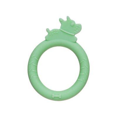 mordedor-de-silicone-pulseira-cachorrinho-verde-girotondo-baby-BE2439_Frente