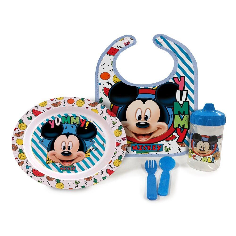 Conjunto De Alimentação - A Hora da Papinha Com 5 Peças - Disney - Mickey - BabyGo