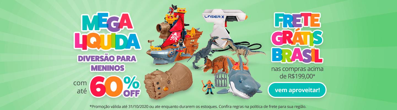 Fullbanner - Desktop - Mega Liquida - DIVERSÃO PARA MENINOS COM ATÉ 60% OFF - act