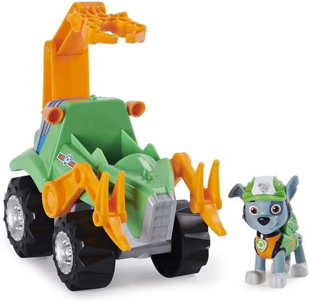 Patrulha Canina Carro Deluxe Dino -  Veículo e Rocky - Sunny