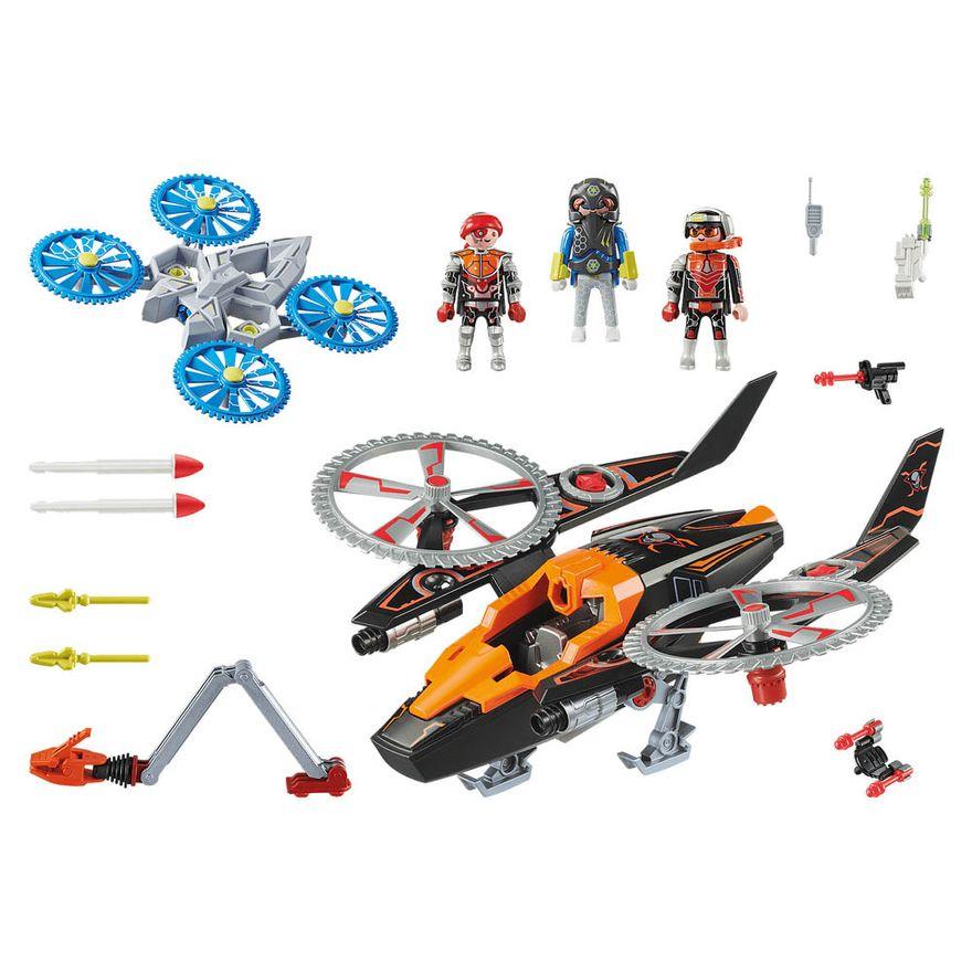Piratas-galacticos-com-helicoptero---Playmobil-policia-galatica---Sunny-brinquedos---2467-2