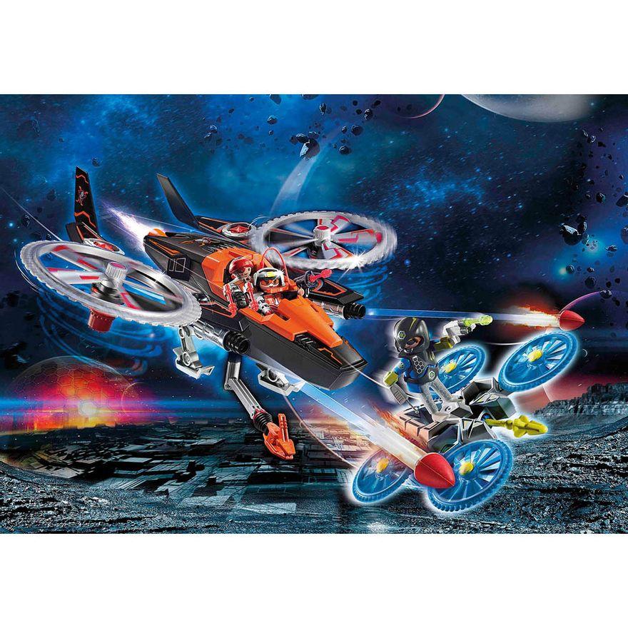 Piratas-galacticos-com-helicoptero---Playmobil-policia-galatica---Sunny-brinquedos---2467-7