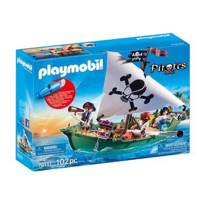 Navio-pirata-com-motor-subaquatico---Playmobil-piratas---Sunny-brinquedos---2487-0