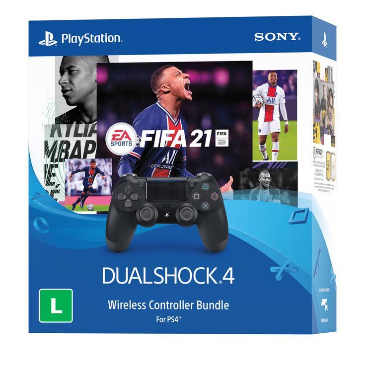 PS4 Fifa 21 Midia Digital Com Controle Dualshock 4 (Bundle) MKT