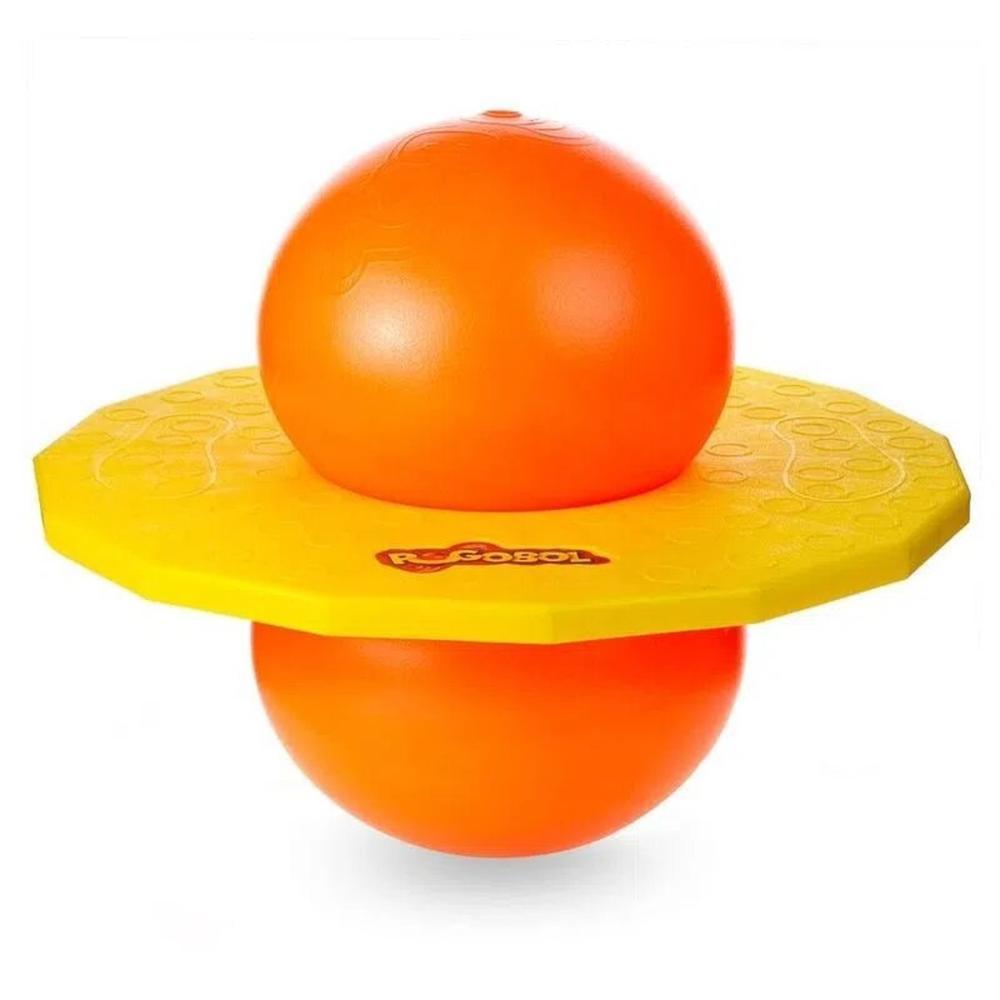 Brinquedo Pula Pula Pogobol Amarelo e Laranja - Estrela