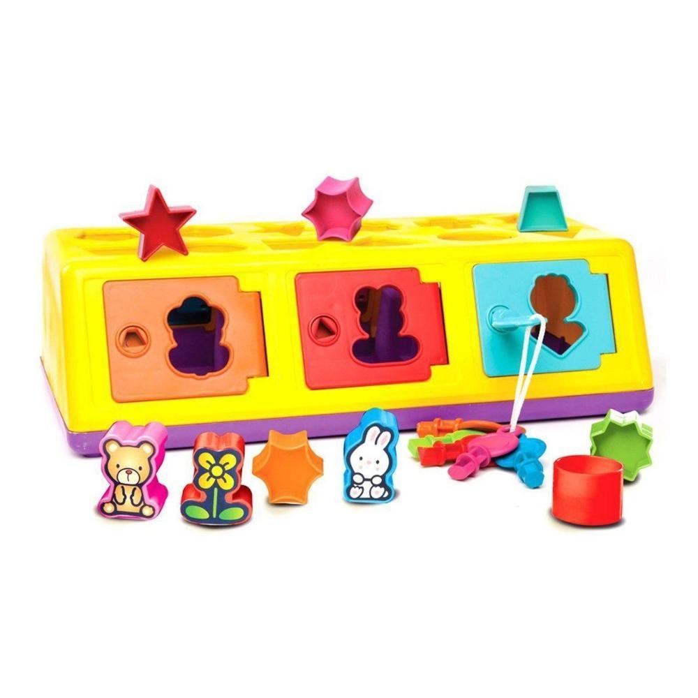 Brinquedo Infantil 18 Peças Caixa Encaixa - Estrela