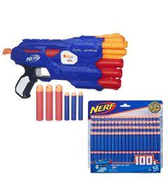 Kit-de-Lancador-de-Dardos---Nerf-Elite-Dual-Strike-100-Dardos-Refil---Hasbro