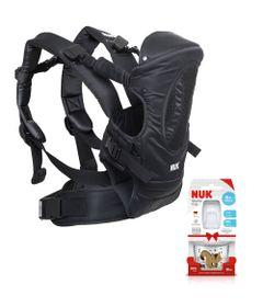 Kit-de-Canguru-4-em-1---Carrier-Baby---Supreme-Confort---Preto-e-Copo-de-Treinamento---Starter-Cup---90ml---Nuk