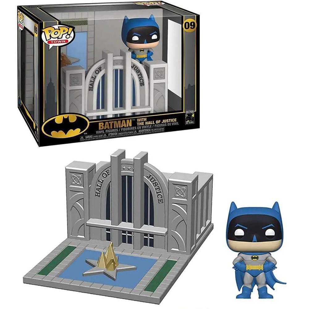 Figura Colecionável - Funko POP - DC Comics - Batman e o Hall da Justiça - Funko
